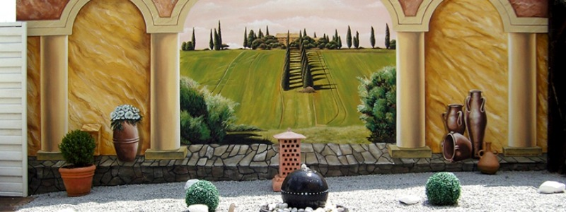Slide Gartenwand Italien Slideshow
